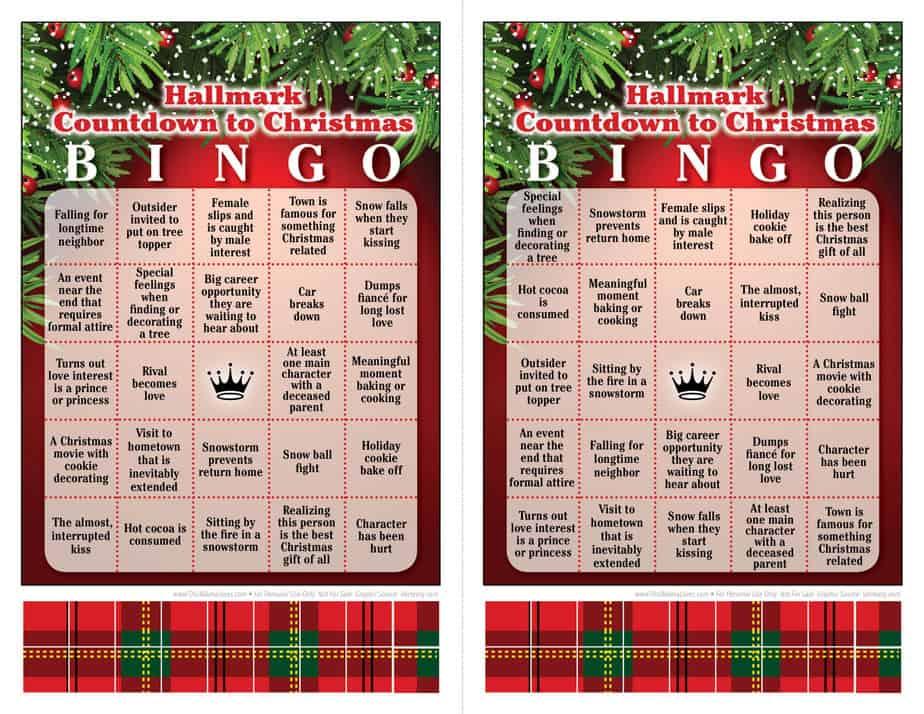 Hallmark Christmas Movie Bingo