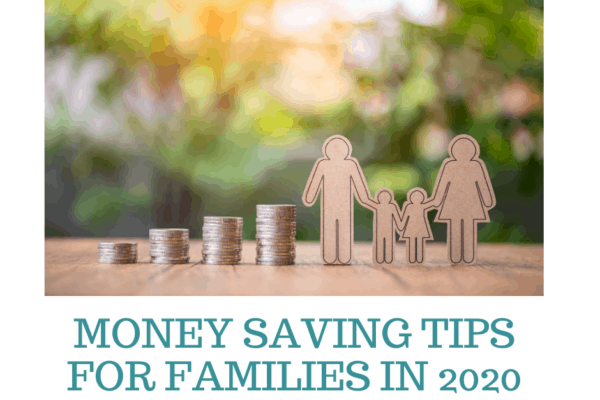 paper doll figures next to coins stacked showing Money Saving Tips for Families in 2020
