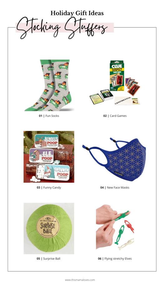 Stocking Stuffer Ideas collage