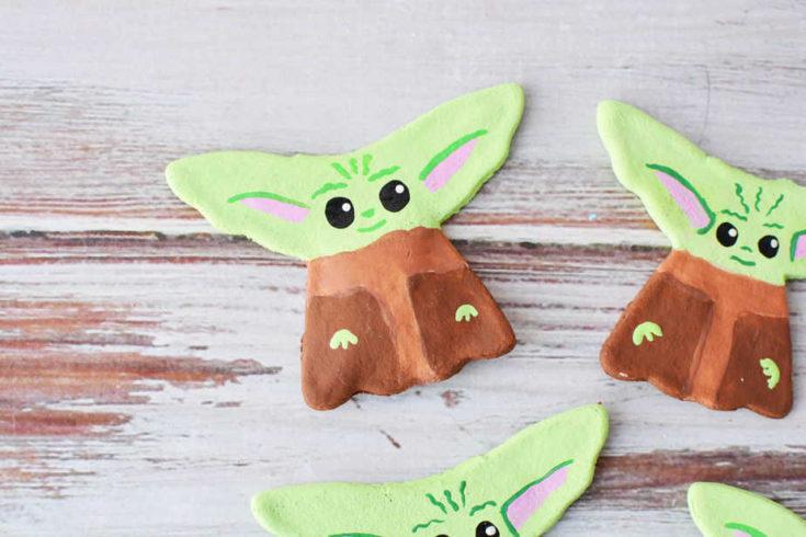 Yoda Salt Dough Ornaments