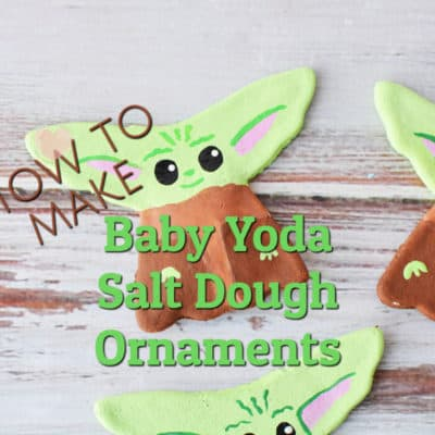 salt dough ornaments baby yoda theme