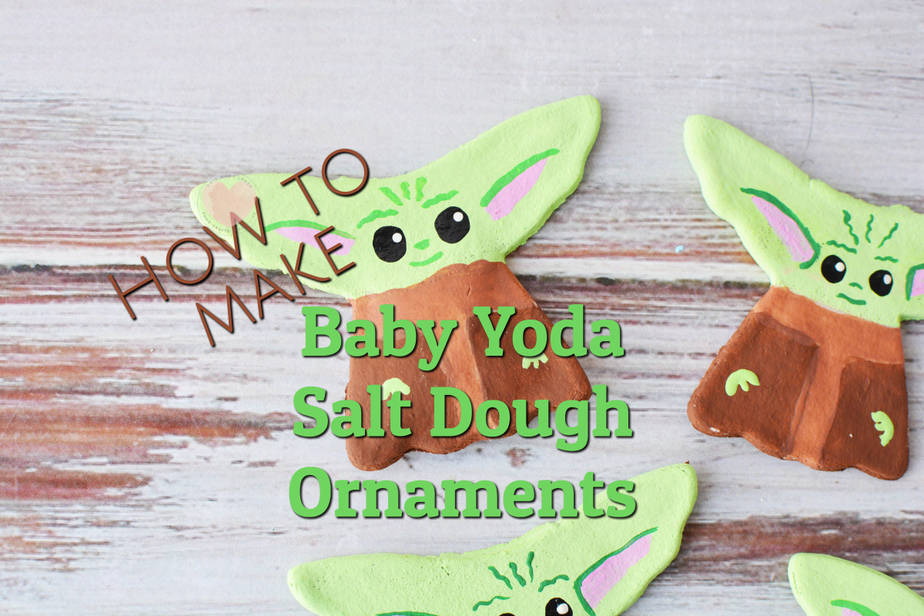 salt dough ornaments baby yoda theme