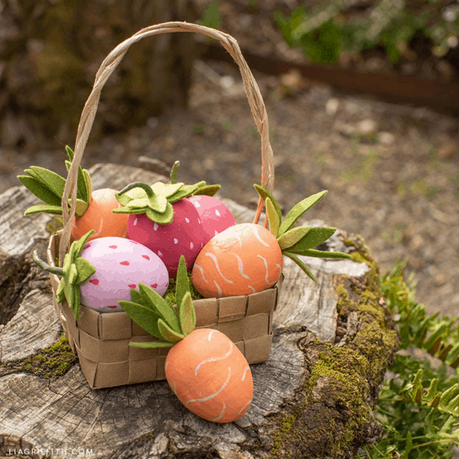 Carrot & Strawberry Easter Eggs from Lia Griffith