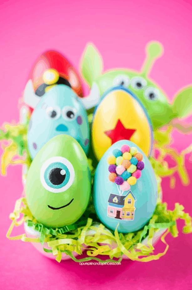 DIY Disney Pixar Easter Eggs from A Pumpkin And A Princess