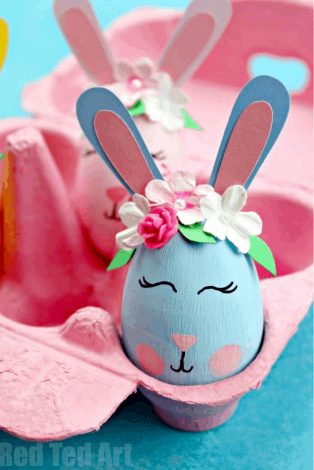 Flower Bunny Eggs from Red Ted Art