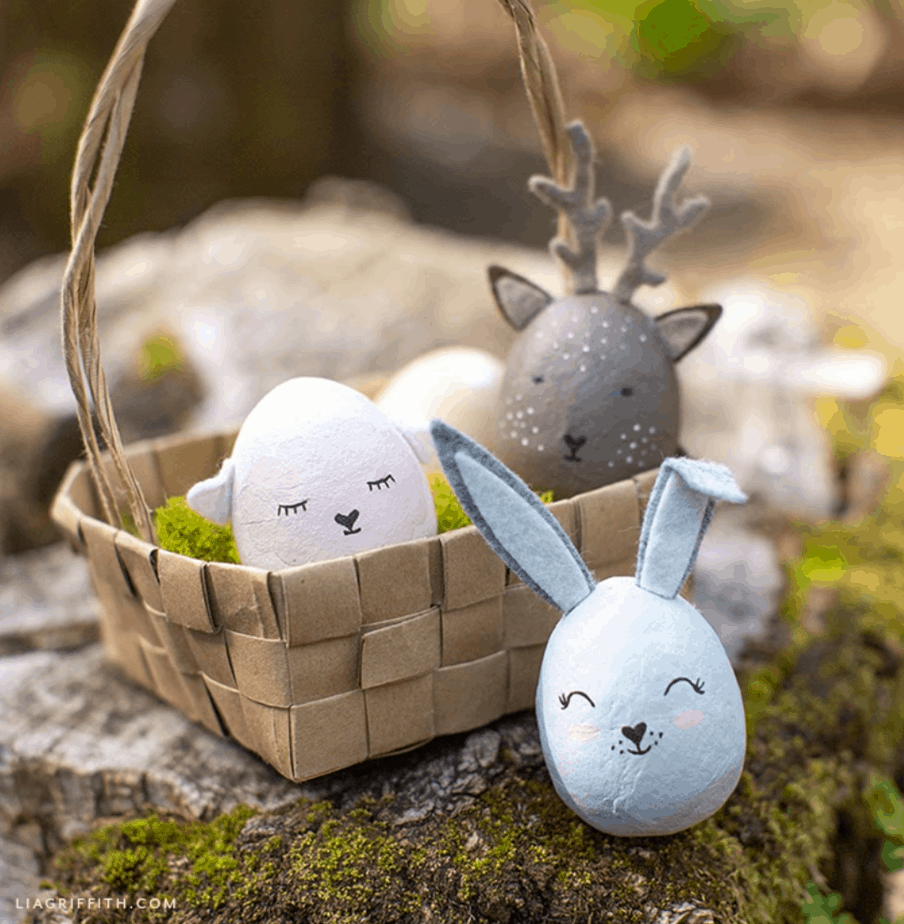 Painted Animal Easter Eggs from Lia Griffith