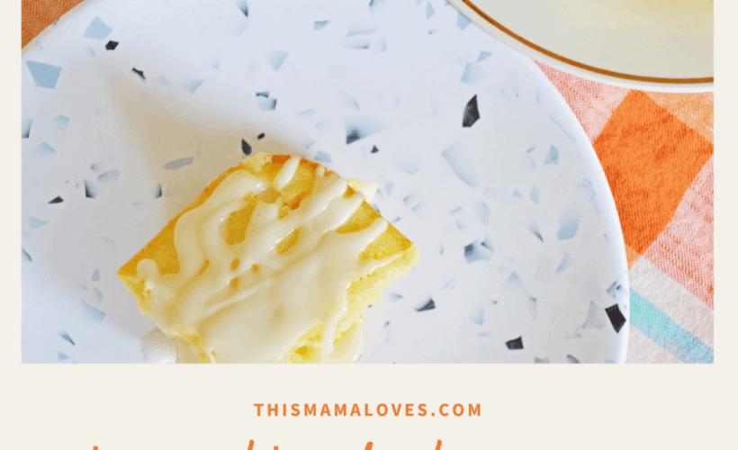 Lemon Blondie Brownies with Lemon Glaze