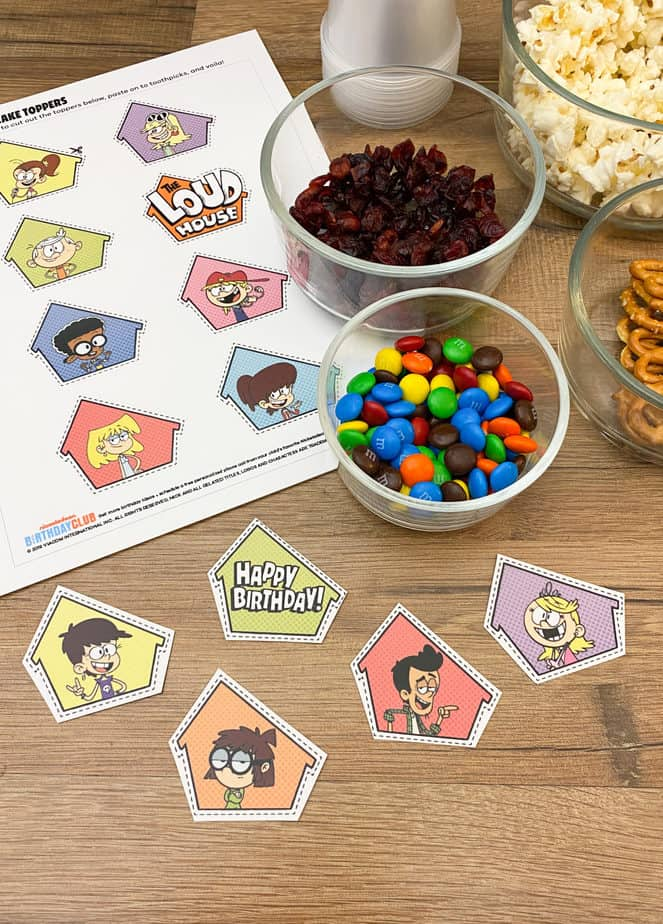 loud house recipe trail mix toppers